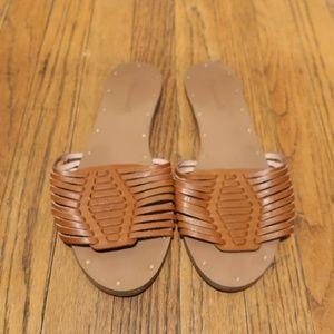 Madewell Willa Brown Harrache Sandal Slides sz 9.5